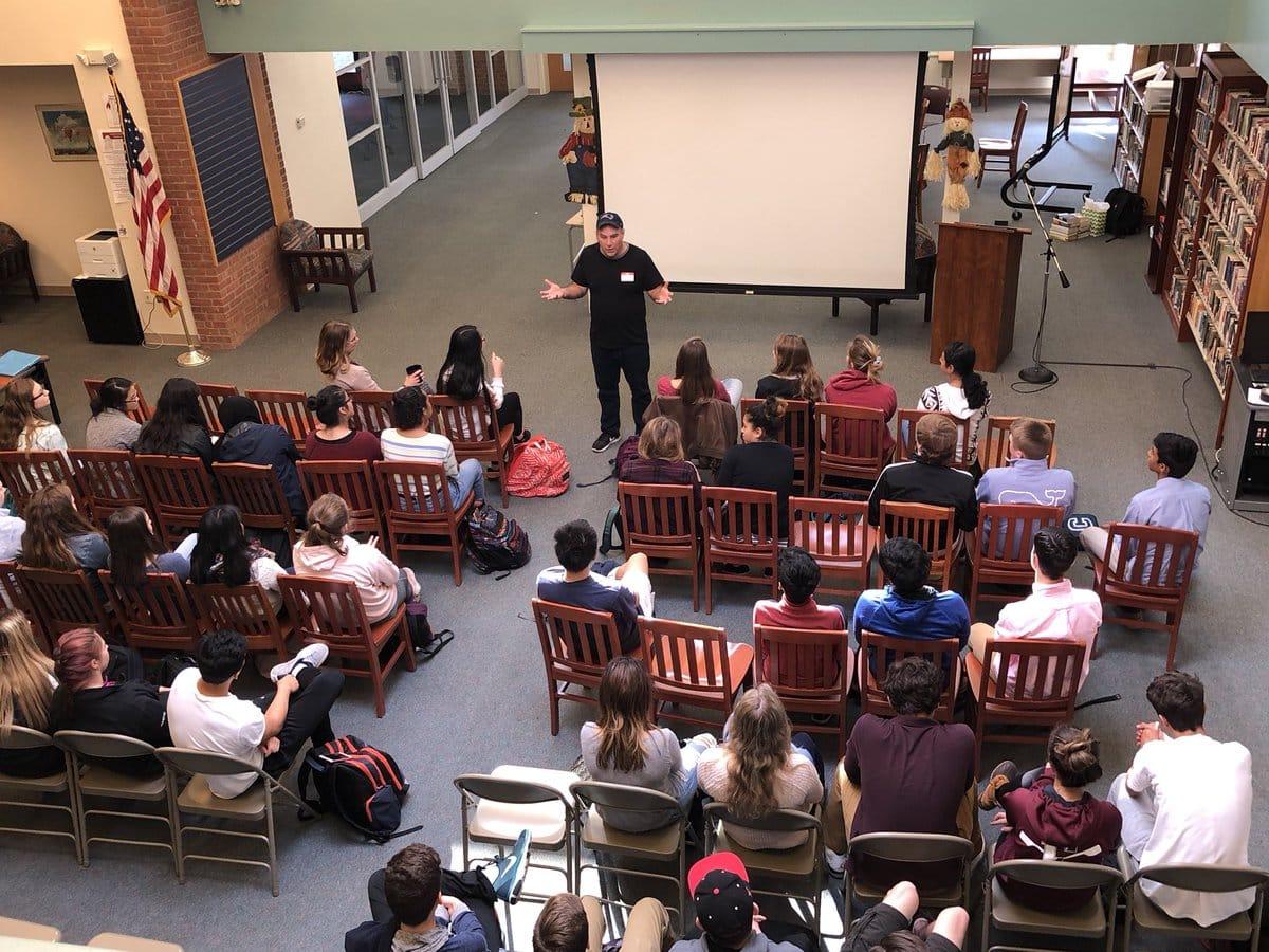 Matthew Dicks Storyteller Author Library Speech